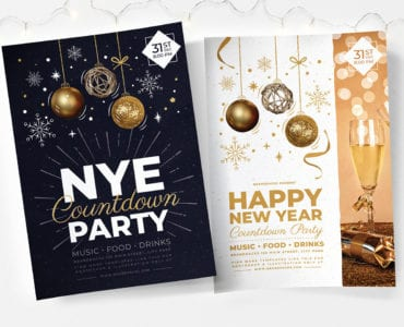 NYE Party Poster Templates