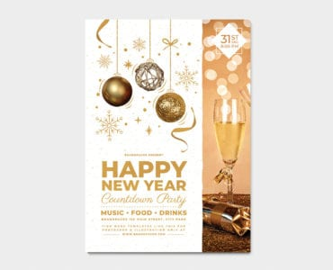 NYE Party Poster Template