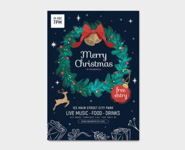 Ornate Christmas Poster Template