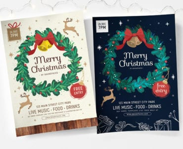 Ornate Christmas Poster Templates