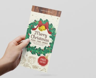 Ornate Christmas DL Card Template