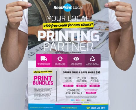 A3 Print Shop Poster / Banner Template