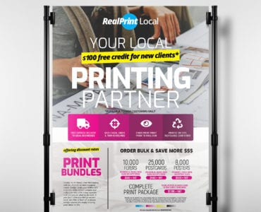 A3 Print Shop Poster / Banner Template