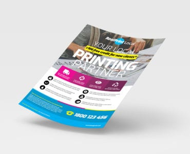 A4 Print Shop Poster Template