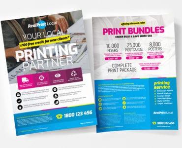A4 Print Shop Poster Templates
