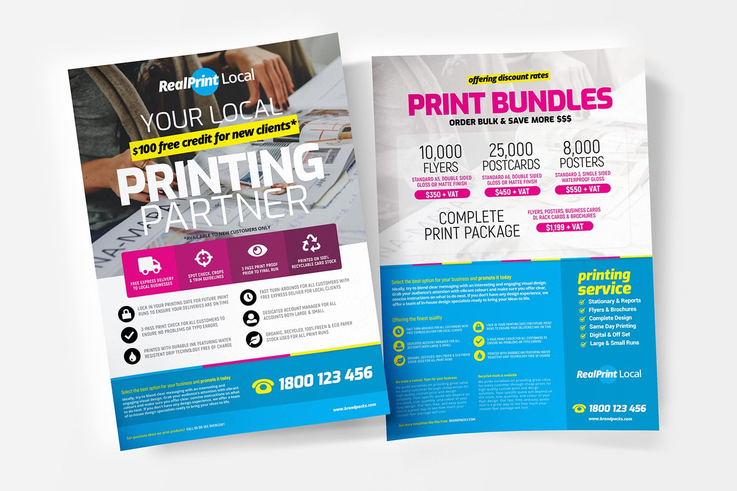 A4 Print Shop Poster Template - PSD, Ai & Vector - BrandPacks
