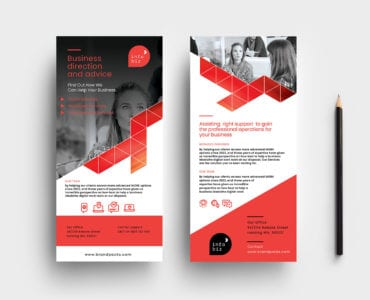 Business DL Rack Card Template