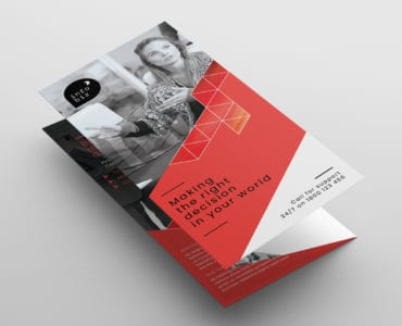 Business Tri-Fold Brochure Template Front