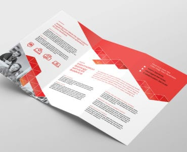 Business Tri-Fold Brochure Template Inside