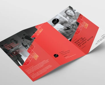 Business Tri-Fold Brochure Template Outside