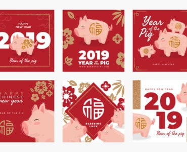 Chinese New Year Templates for Instagram, Facebook, Tumblr & Twitter