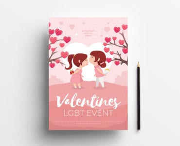 LGBT Valentine's Day Poster Template