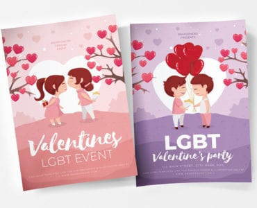 LGBT Valentine's Day Poster Templates