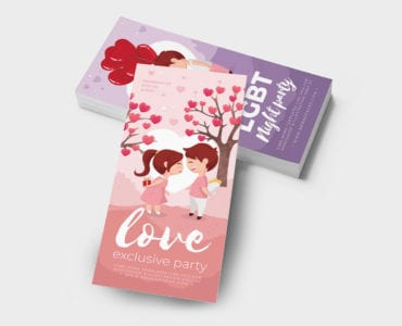 LGBT Valentine's Day DL Rack Card Template