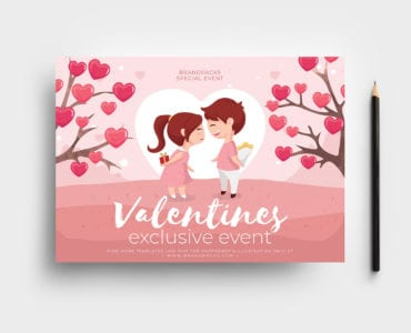 LGBT Valentine's Day Flyer Template