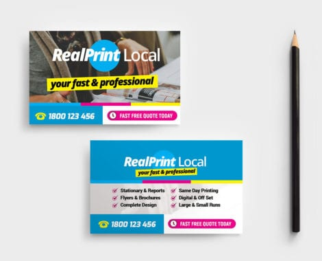 Print Shop Business Card Template