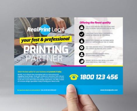 Print Shop Flyer Template - PSD, Ai & Vector - BrandPacks
