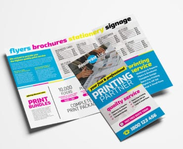 Print Shop Trifold Brochure Template