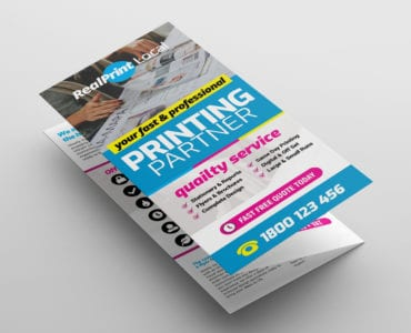 Print Shop Trifold Brochure Template Front