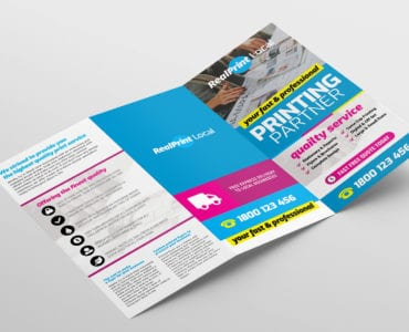 Print Shop Trifold Brochure Template Outside