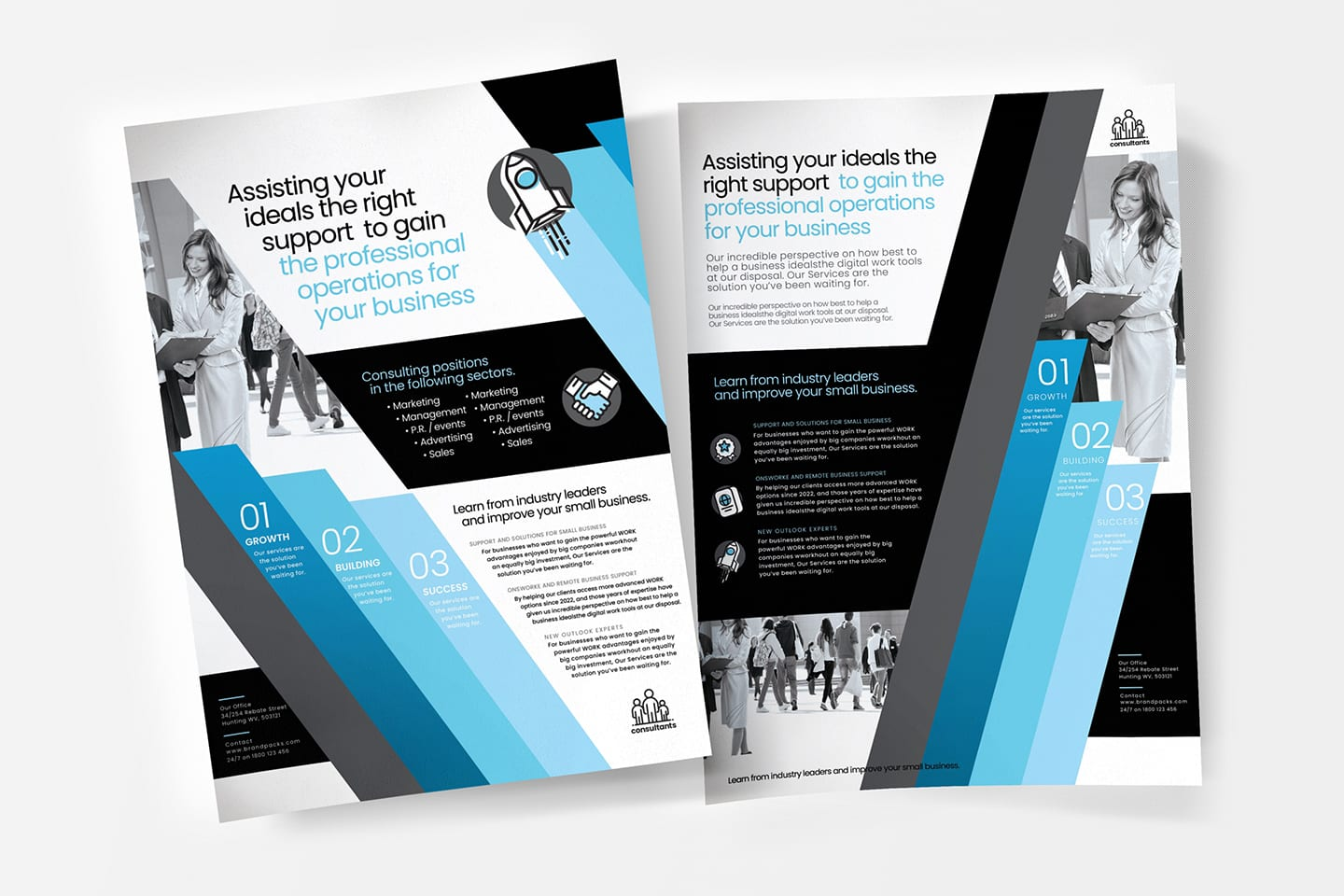 A4 Consultant Flyer / Poster Template