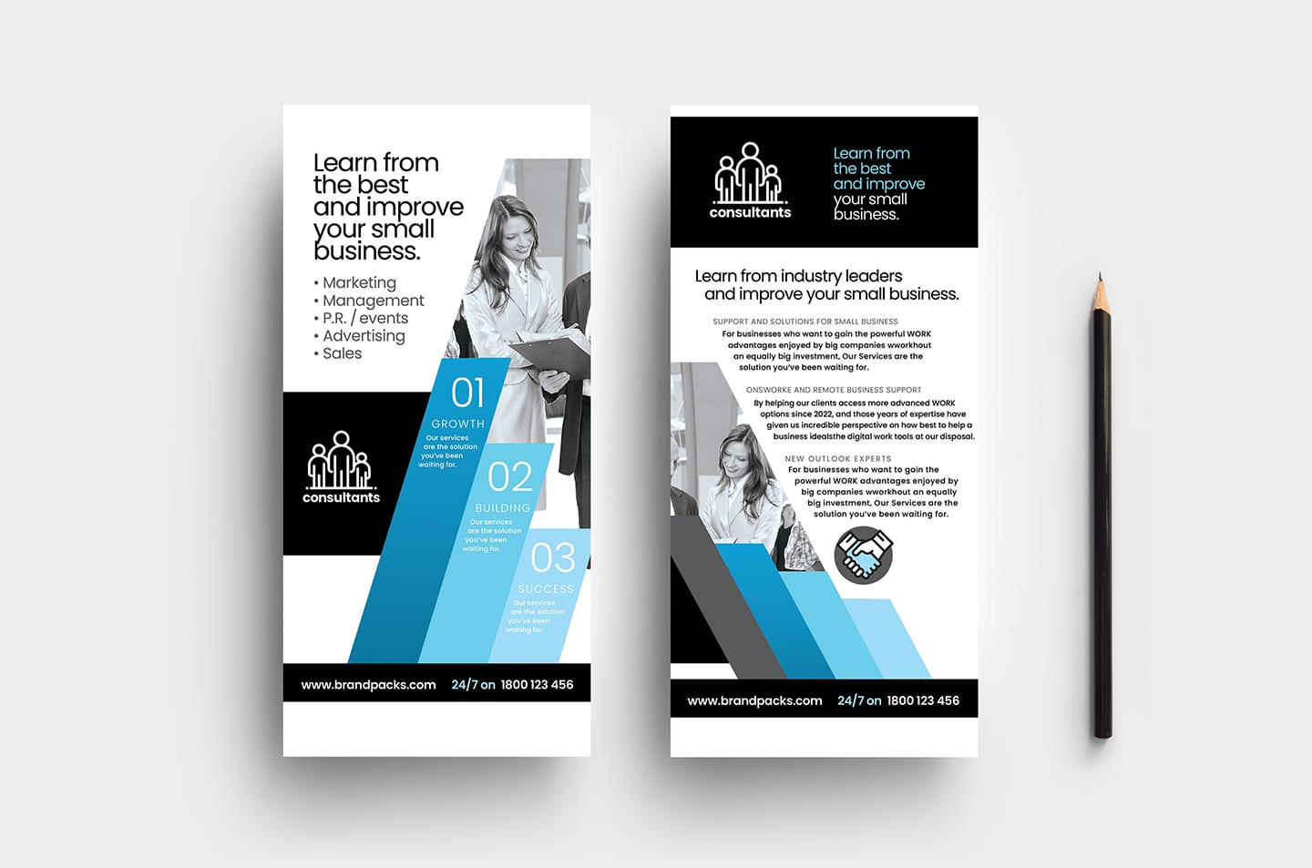 Consultant DL Card Templates