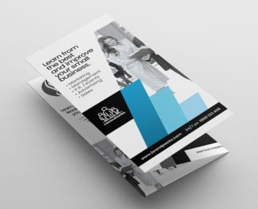 Consultant Tri Fold Brochure Template Front