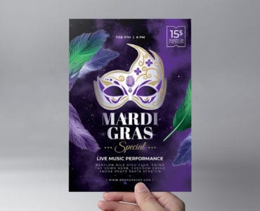 Mardi Gras Flyer Template Front