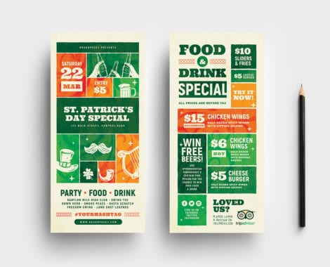 St. Patrick's Day DL Card Templates