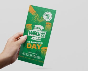 St. Patrick's Day DL Flyer Template