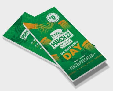 St. Patrick's Day DL Flyer Template Front