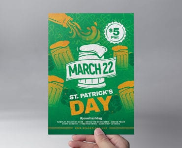 St. Patrick's Day Flyer Template Front