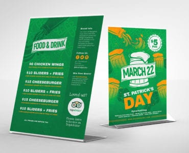 St. Patrick's Day Table Tent Template