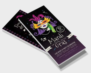 Traditional Mardi Gras DL Card Template