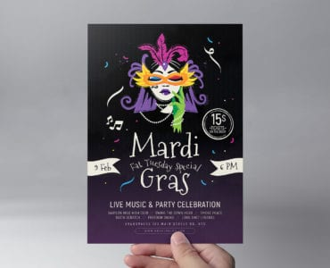 Traditional Mardi Gras Flyer Template