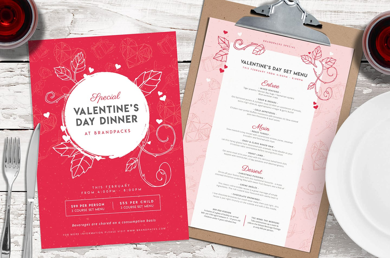 Valentines Day Menu Template