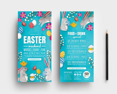Easter DL Card Template