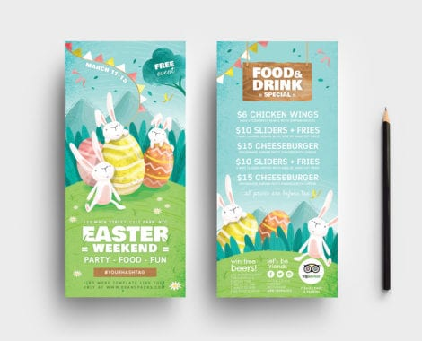 Easter DL Rack Card Template