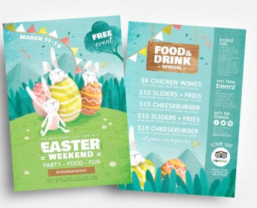 Easter Flyer Templates in Vector & PSD