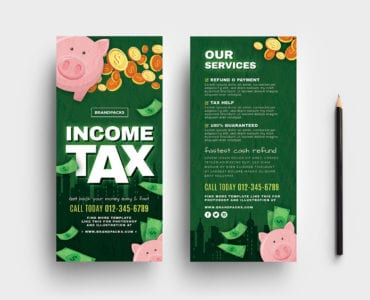 Income Tax DL Card Templates
