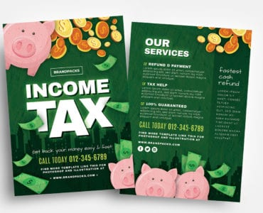 Income Tax Flyer Templates