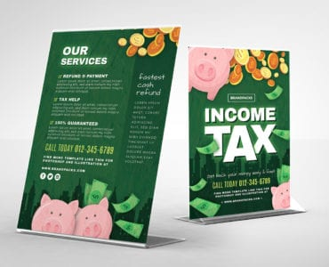 Income Tax Table Tent Template