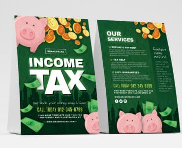 Income Tax Table Tent Templates