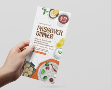 Passover DL Rack Card Template