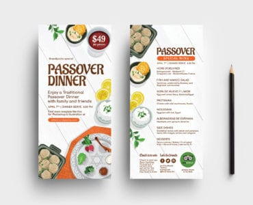 Passover DL Rack Card Templates