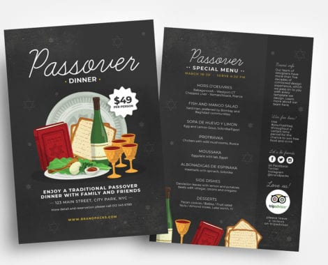 Passover Menu/Poster/Flyer Template