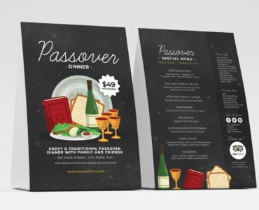 Passover Table Tent Template