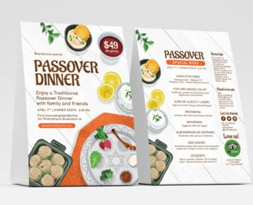 Passover Table Tent Templates