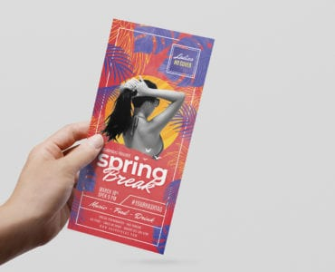 Spring Break DL Rack Card Template