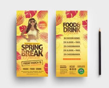Spring Break DL Card Template